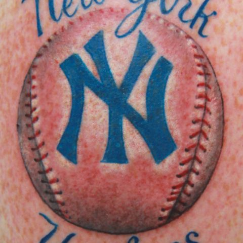 New York Yankees baseball tattoo