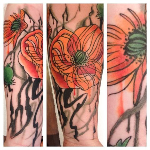 cool flowers tattoo