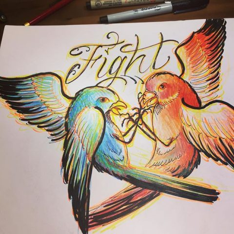 flight birds artwork
