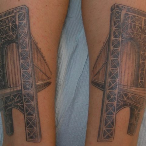 george washington bridge tattoo