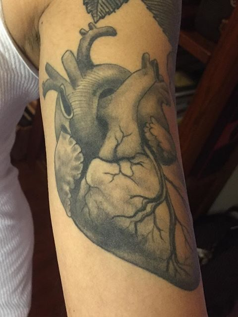 heart arm tattoo