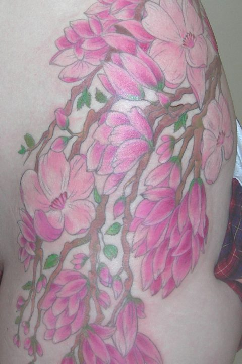 magnolia tree tattoo