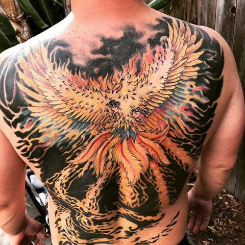 phoenix backpiece tattoo