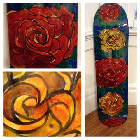 rose board collage