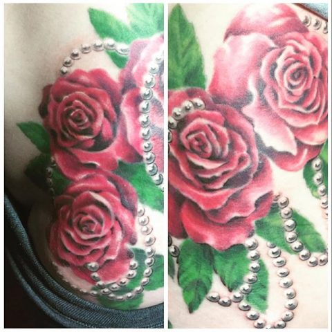 roses and pearls tattoo