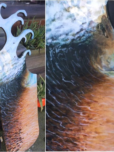 wave board collage