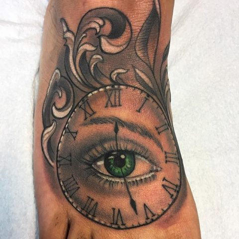 time eye tattoo