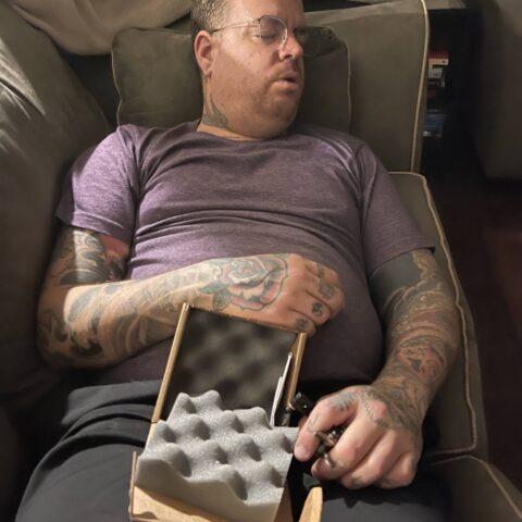 Tattoo Machine 52 - Matt Sleeping